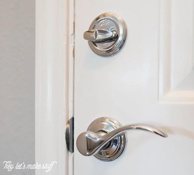 new chrome door handle for front door