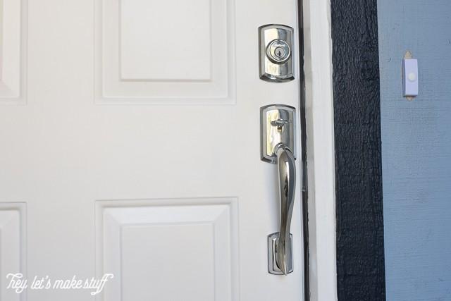 new chrome door handle for entryway