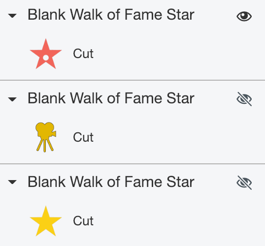 Ungrouped Walk of Fame Star layers