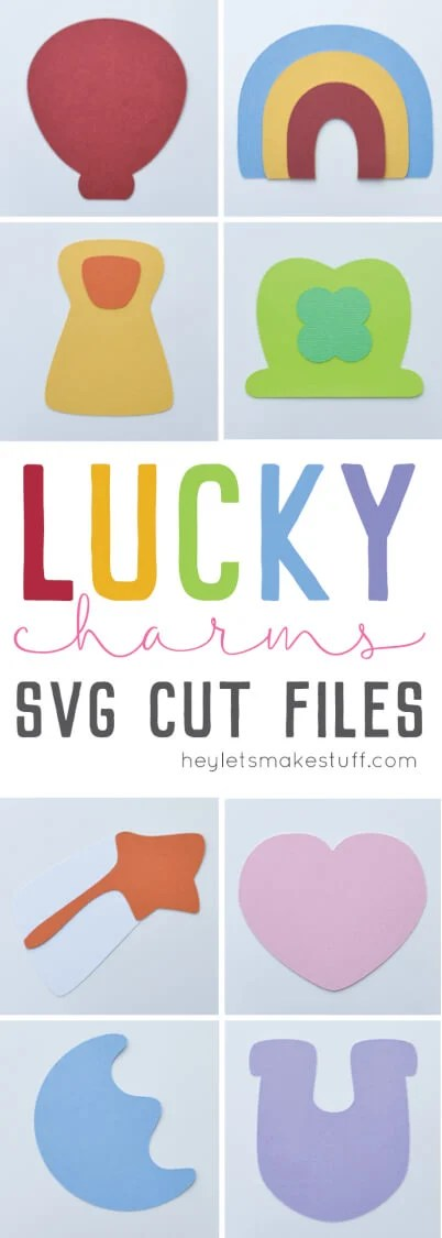 These Lucky Charms SVG cut files will help you make a delicious, marshmallow garland for St. Patrick's Day! Also fun for tons of other Lucky Charms crafts year round.