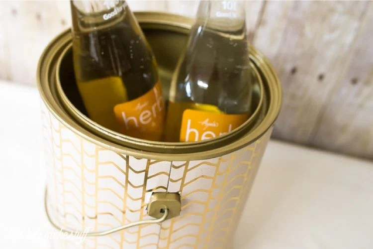 DIY ice bucket from upcycled paint can