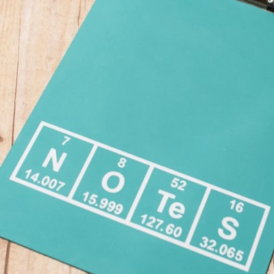 Periodic Table Clipboard with the Cricut