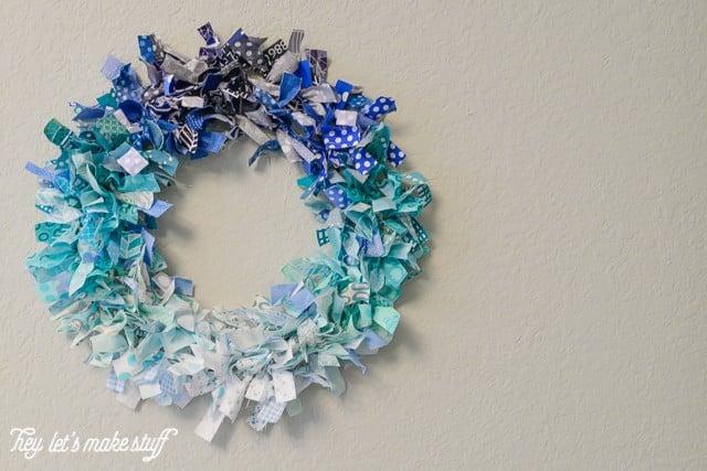 DIY ombre rag wreath
