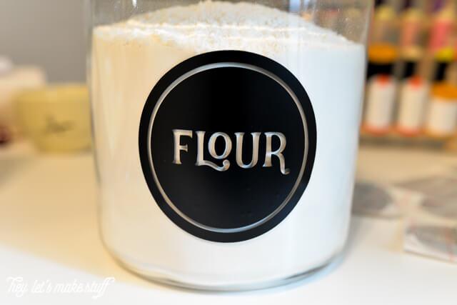 flour pantry label