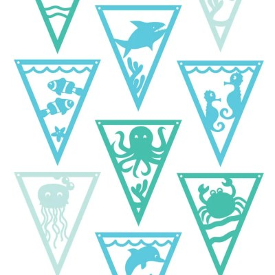 Under the Sea Pennants SVG