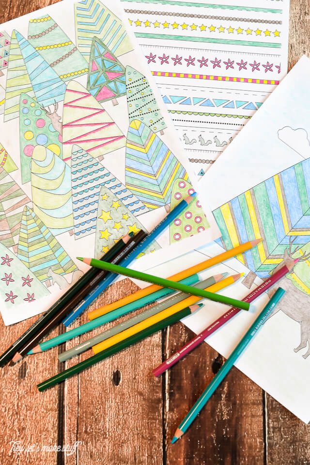Looking to personalize your presents this Christmas? Print out these wrapping paper sheets and get coloring! Two sizes to print; perfect for stocking stuffers. #relaxandcolor #coloringwithMichaels #Pmedia #ad