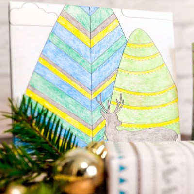 Printable Coloring Page Wrapping Paper