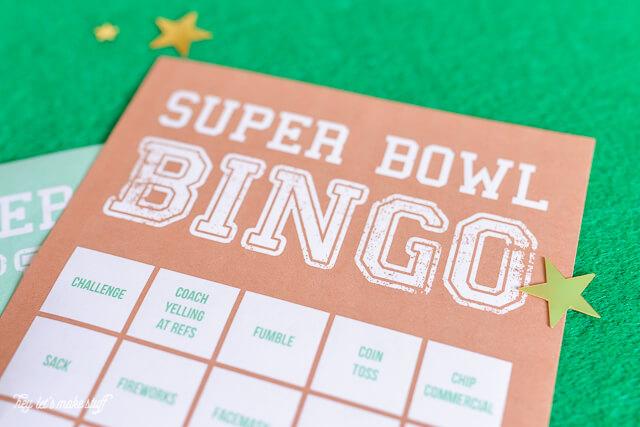 Super bowl bingo cards