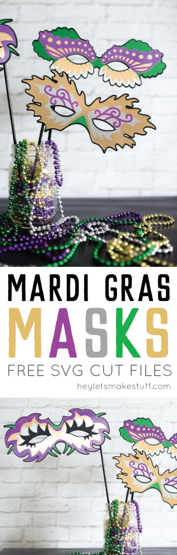 These Mardi Gras masks are perfect for a Fat Tuesday party -- either as part of a costume or as photo booth props.  via @heyletsmakestuf