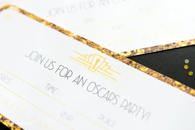 Throwing an Oscars party this year? These printable invitations are the perfect way to invite your friends to walk your own red carpet! Lots of other Oscars ideas in this post as well. Academy Awards | printable