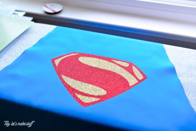 Superman fabric for DIY cape