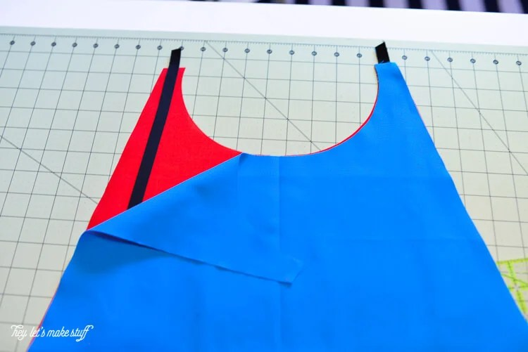 red and blue fabric for Superman cape