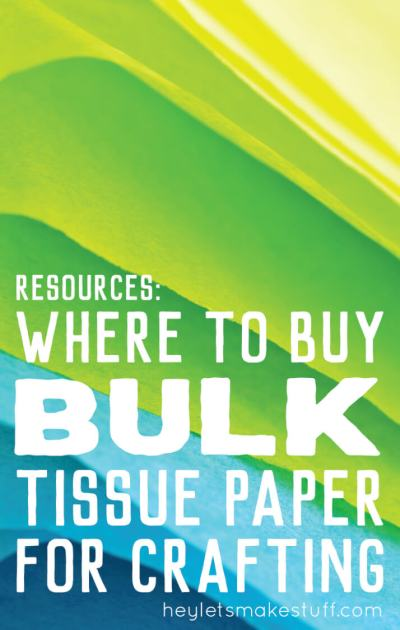 If you're doing a project that requires a lot of tissue paper, buying bulk tissue paper is the way to go. Here are my favorite go-to resources for bulk tissue paper.