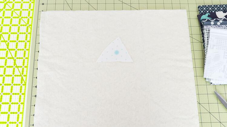 Bear Mountain quilt-as-you-go (QAYG) block step 1