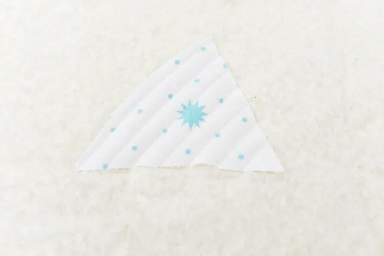 Bear Mountain quilt-as-you-go (QAYG) block step 2