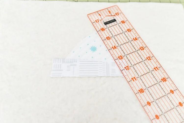 Bear Mountain quilt-as-you-go (QAYG) block step 4
