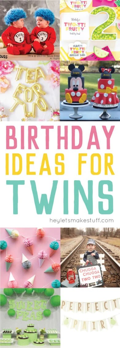 Throwing a birthday party for twins is double the fun! Here are a bunch of twin birthday party themesthat are perfect for a pair.