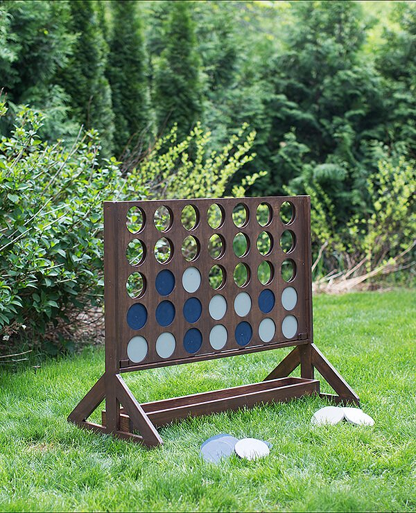 outdoor wedding lawn game - connect four