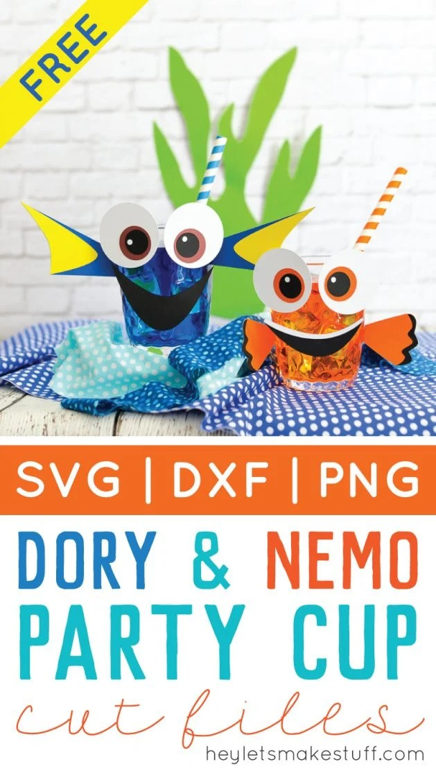 Dory & Nemo themed party cups pin image