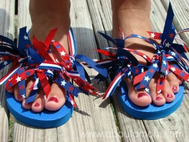 ribbon flip flops