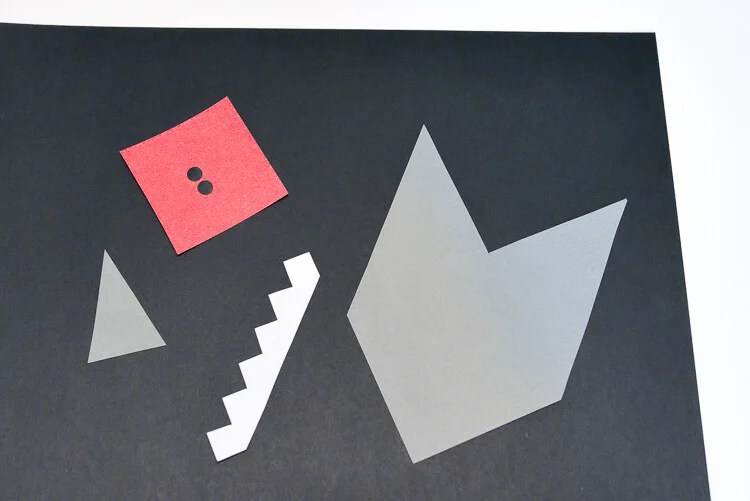 DIY Shark Bookmarks cutouts