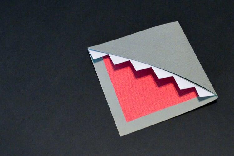 DIY Shark Bookmarks step 4
