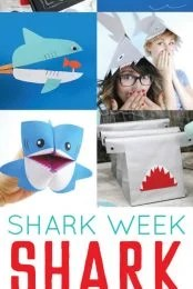 Love sharks? Can't get enough of Shark Week? Check out these fun paper shark crafts and party ideas!