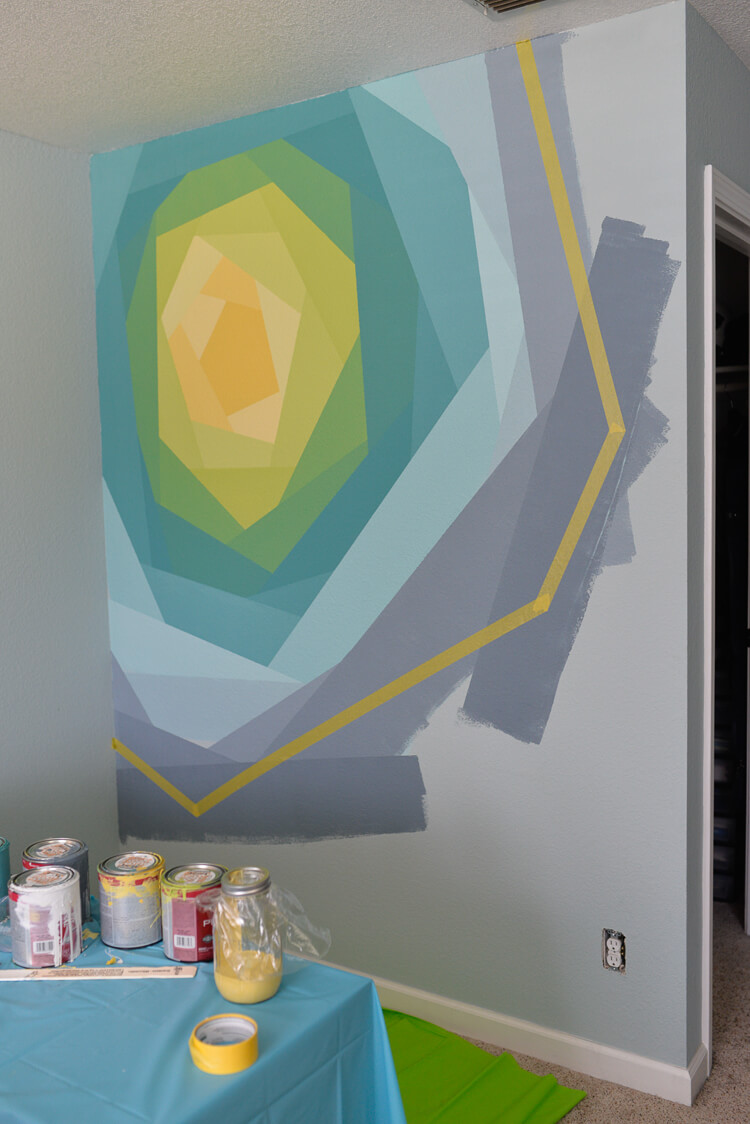 All it takes to make this gorgeous flower wall mural is paint, FrogTape, and patience! A stunning addition to any space.