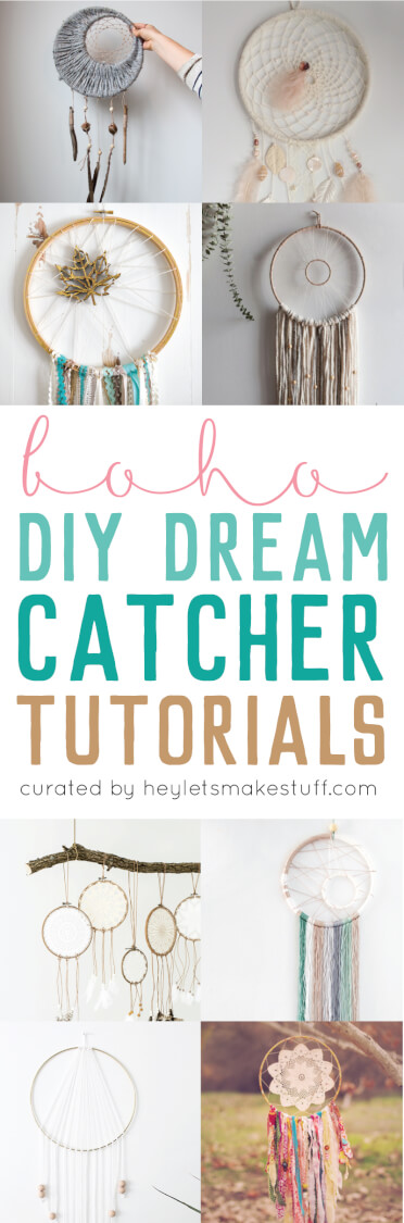 Dream catcher round up: if you love the delicate, boho style of a dream catcher, here are 10+ dreamcatcher tutorials for you to make your own!