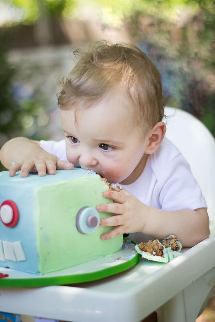 Robot Birthday Party - smash cakes