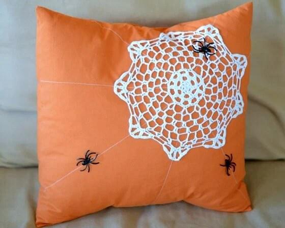 spiderweb pillow