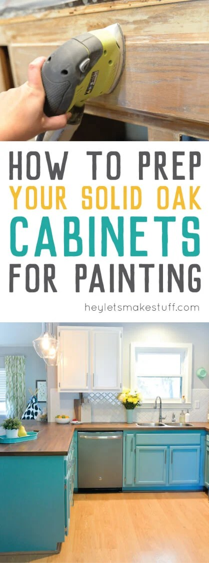 process for preparing cabinets for painting pin image