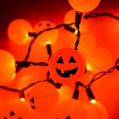 Halloween Jack O' Lantern Ping Pong Ball Lights