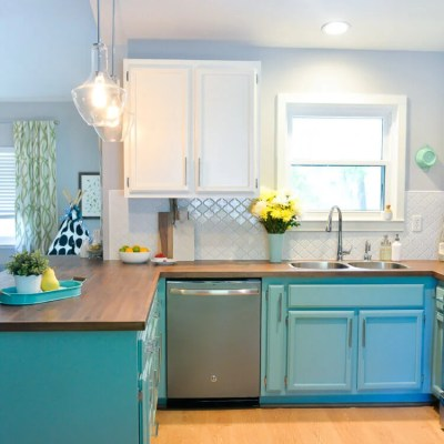Bright and Happy DIY Kitchen Renovation on a Budget