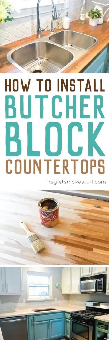 how to install butcher block countertops