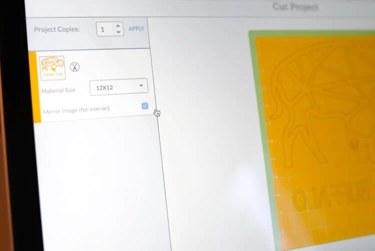 Design Space screenshot of buffalo SVG