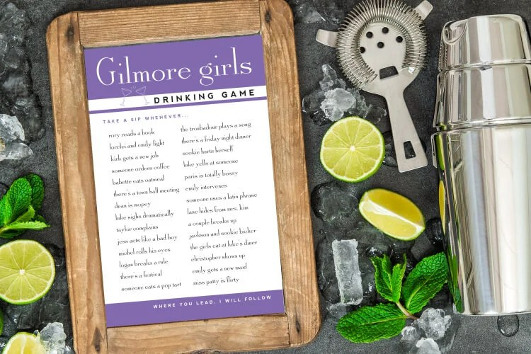 These Gilmore Girls Drinking Games are perfect for Coffee Addicts, Martini Lovers, and Shirley Temple Sippers alike! Grab your favorite drink and settle in as you travel back to Stars Hollow with Loralei and Rory one last time for the Gilmore Girls: A Year In The Life revival!