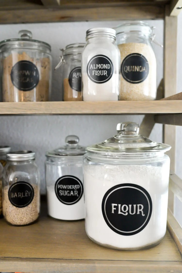 picture relating to Free Printable Mason Jar Labels Including Blanks. These Are So Pretty referred to as Vinyl Pantry Labels - 126 Cost-free SVG Labels! - Hey, Permits Generate