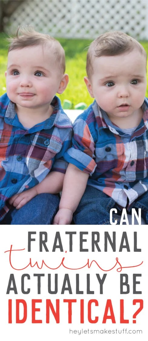 Does everyone tell you your fraternal twins look identical? They might be! We did a twin zygosity DNA test to learn whether or not our twins were fraternal or identical. Here are the results!