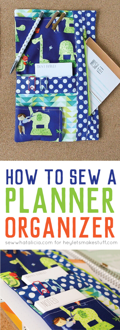 Need a better way to keep your planner organized? Get the free tutorial to sew a custom planner organizer to hold all of your pens, stickers, and anything else you need to may need!