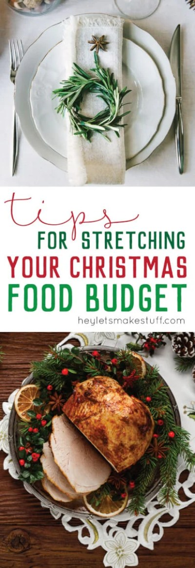 Is money tight this holiday season? Learn how to stretch your Christmas food budget so you can spend less on Christmas dinner and more on the other things that matter.