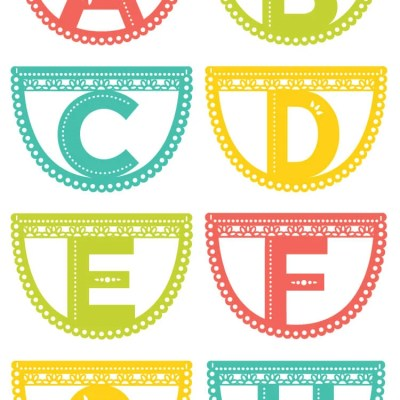 Papel Picado Letter Garland
