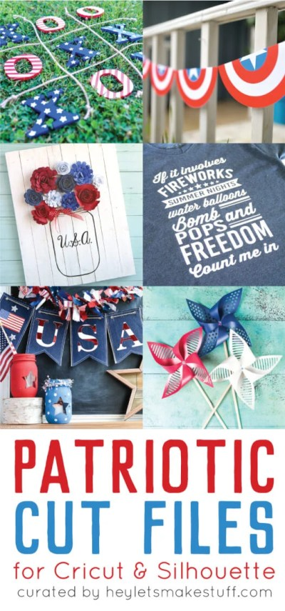 Break out your Cricut or Silhouette and get cutting for Independence Day! These 4th of July cut files will help make your patriotic party special.