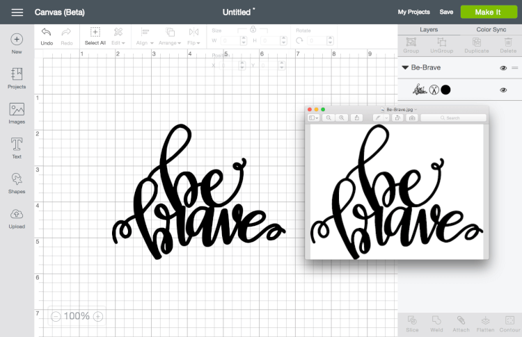 Comparison between original file and Cricut Design Space file - These are great tips and tricks for using the Cricut Design Space or Illustrator to convert your doodles, writing, and other hand-drawn images into an SVG that you can cut on the Cricut Explore!