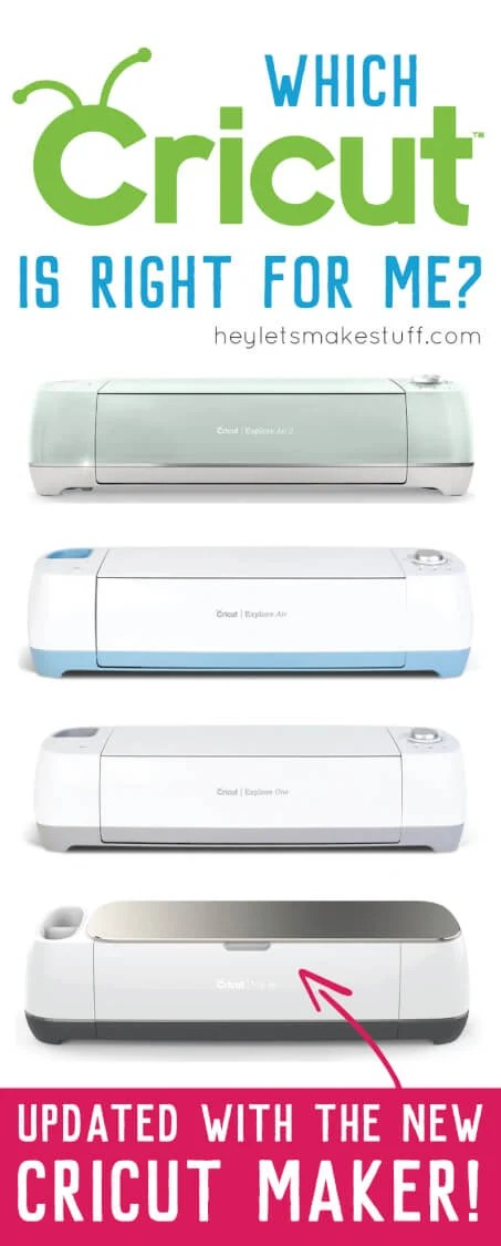 If you're thinking of buying a Cricut machine, this handy guide will help you choose the right machine for the things you want to do. Now updated to include the Cricut Maker!