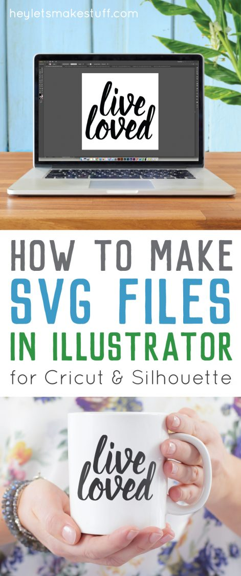 Learn the basics for creating a simple SVG cut file in Illustrator pin image