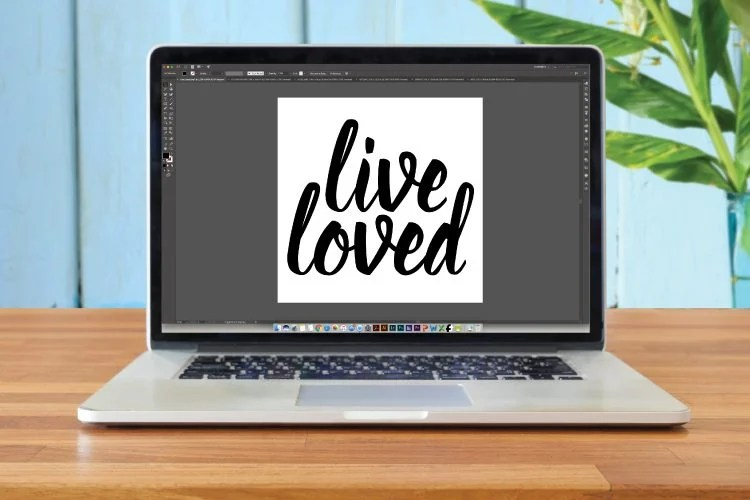 create a simple SVG cut file in Illustrator that can then be cut using a Cricut Explore or Silhouette Cameo.