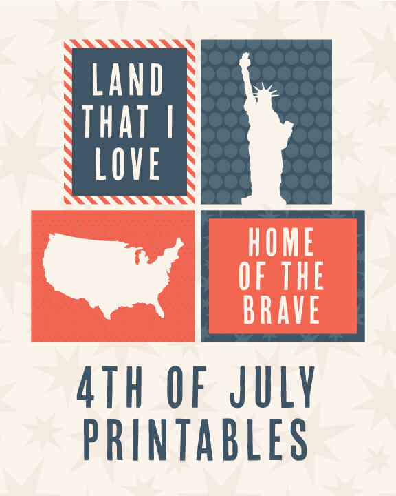 Kensie Kate America Prints - Celebrate the 4th of July with these free patriotic printables! Get more than 20 red, white, and blue printables from your favorite bloggers!