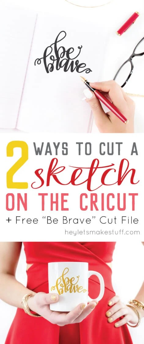 Two Ways to Cut a Sketch on the Cricut