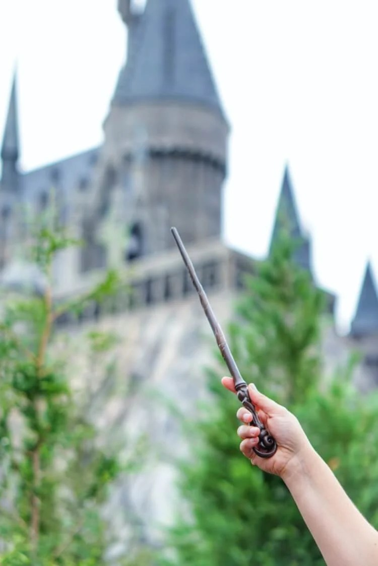 Wand in Harry Potter World - Hogwarts House Harry Potter Bookmarks
